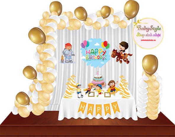 Sét trang trí sinh nhật cho bé trai SL01