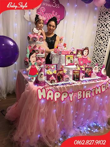 Mẫu trang trí sinh nhật chủ đề công chúa Sophia số 3.