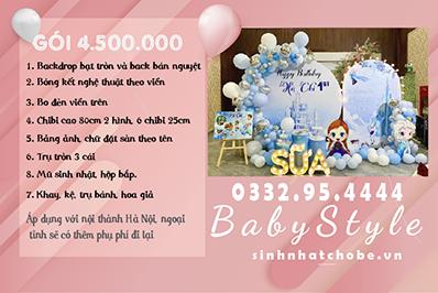 Mẫu trang trí sinh nhật chủ đề Elsa gói 4.500.000