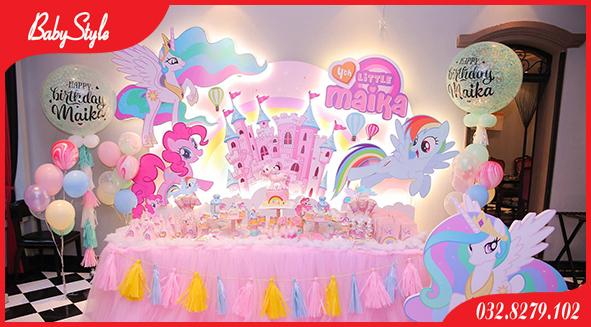 Mẫu trang trí sinh nhật Kỳ Lân Pony