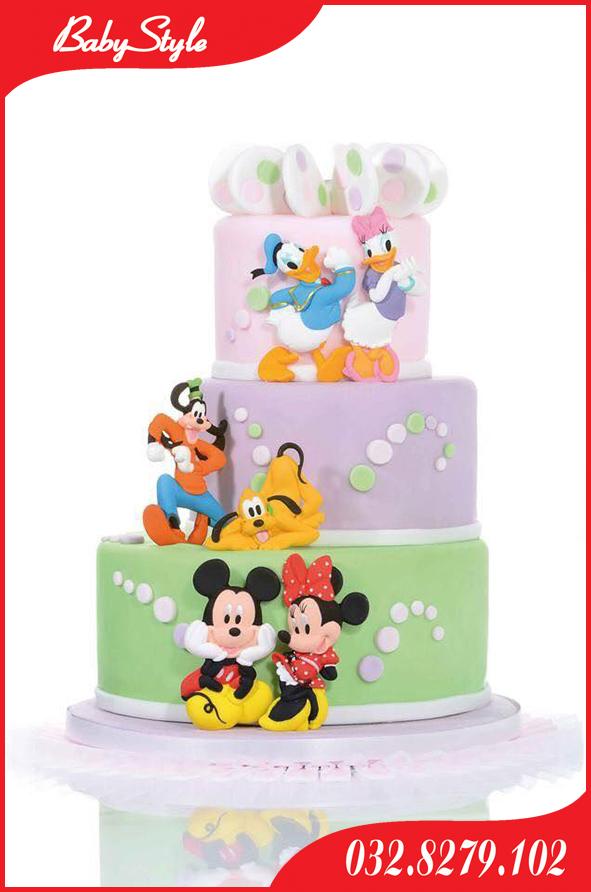 Bánh sinh nhật hình chuột Mickey