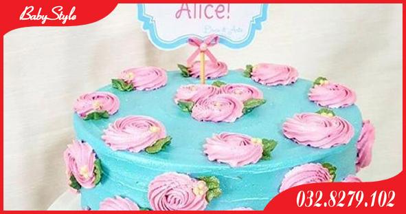 Bánh sinh nhật chủ đề hoa