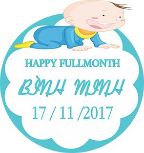 Biển tên full month bé Bình Minh