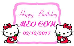 Biển tên trang trí sinh nhật Mèo Con