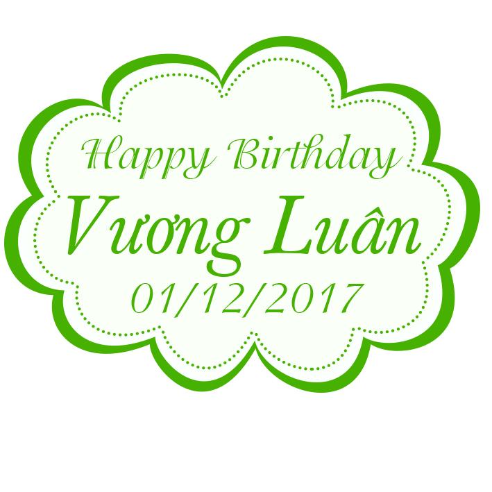 Biển tên trang trí sinh nhật Vương Luân