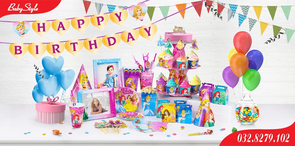 Bộ phụ kiện sinh nhật chủ đề công chúa