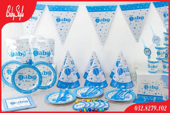 Sét trang trí sinh nhật chủ đề Baby boy có sẵn tại shop
