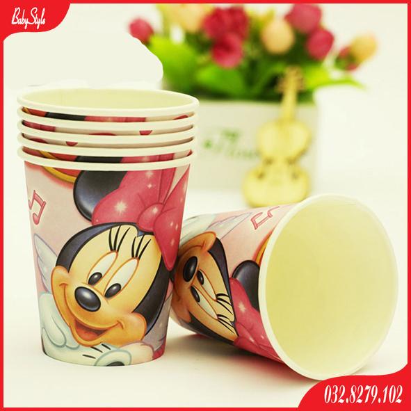 Cốc giấy sinh nhật chuột Mickey