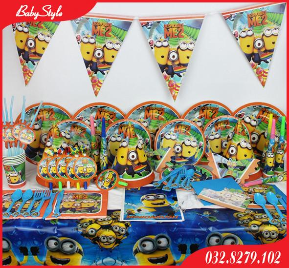 Hình ảnh set trang trí sinh nhật chủ đề Minion