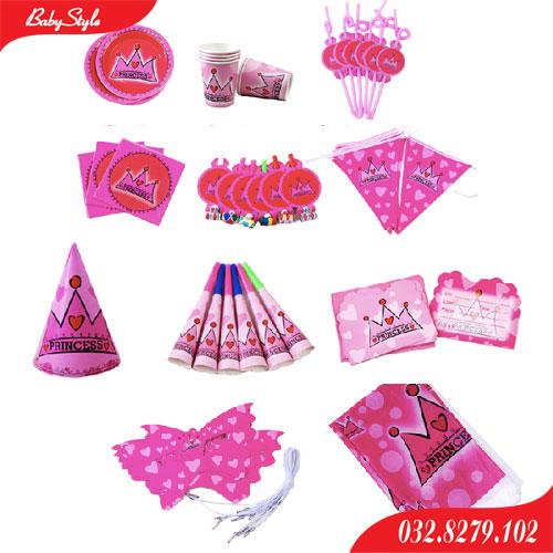Những phụ kiện trang trí sinh nhật trong chủ đề Princess