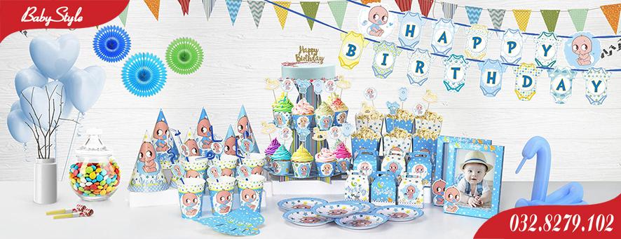Bộ phụ kiện sinh nhật chủ đề Baby Boy