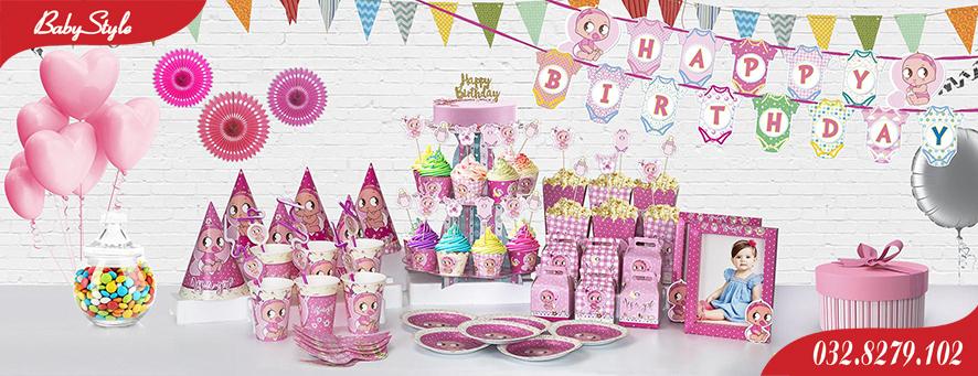 Bộ phụ kiện sinh nhật chủ đề Baby Girl