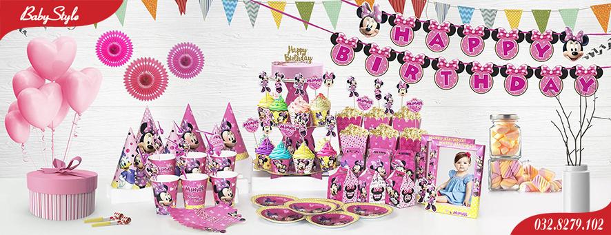 Bộ phụ kiện sinh nhật chủ đề chuột Mickey