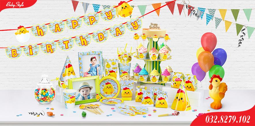 Bộ phụ kiện sinh nhật Gà Vàng