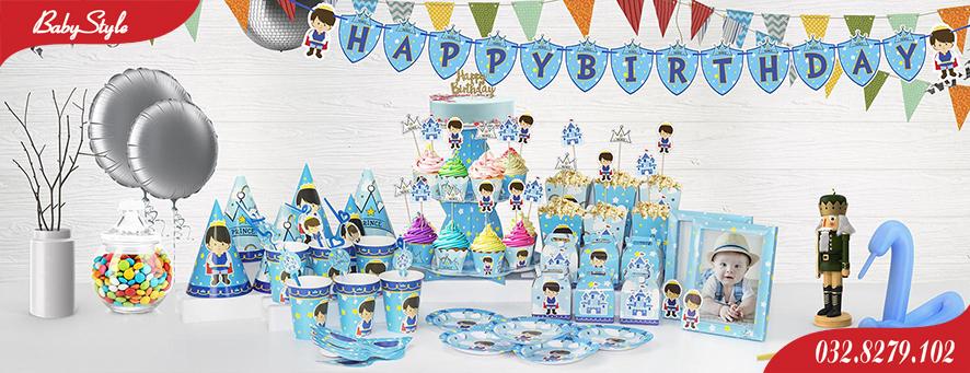 Bộ phụ kiện sinh nhật chủ đề Hoàng Tử