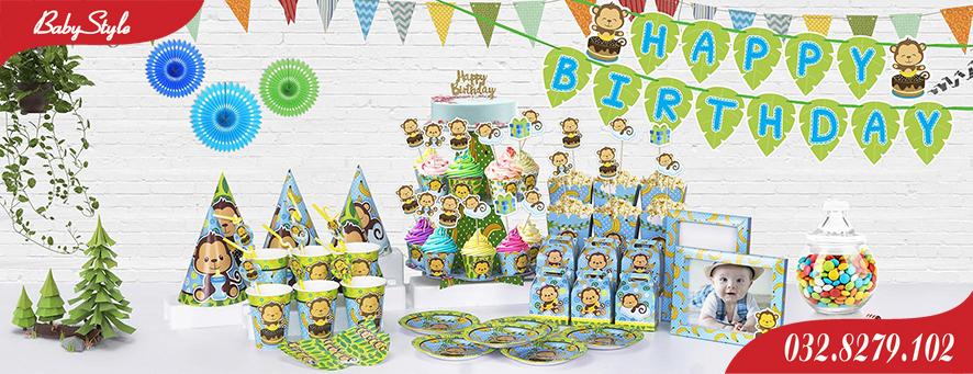 Bộ phụ kiện sinh nhật Khỉ Xanh