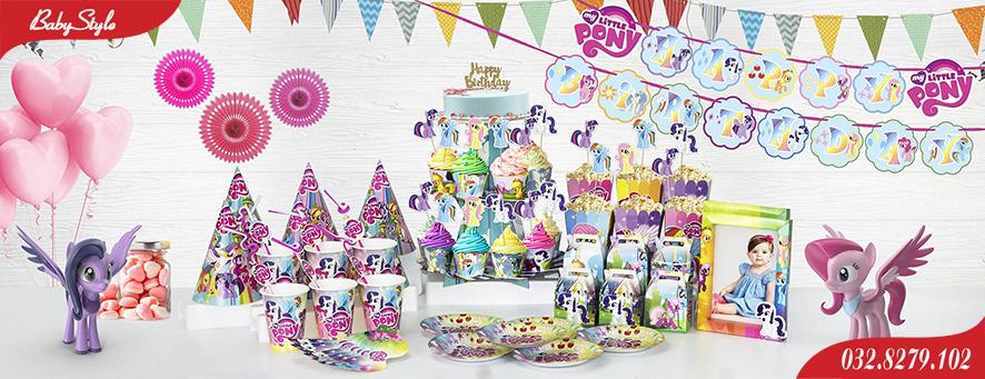 Bộ phụ kiện sinh nhật chủ đề Pony