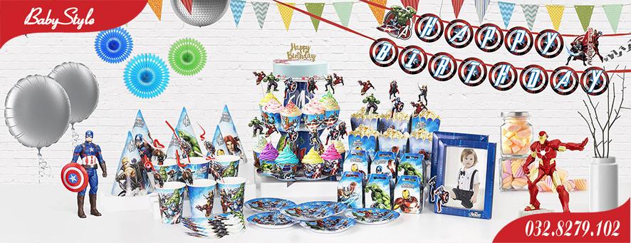 Bộ phụ kiện sinh nhật chủ đề siêu anh hùng