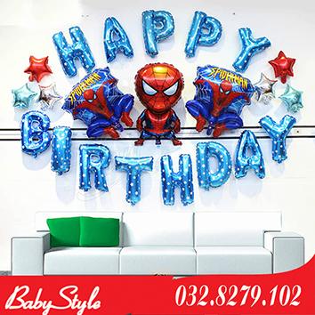 Set bóng trang trí sinh nhật hình Spiderman