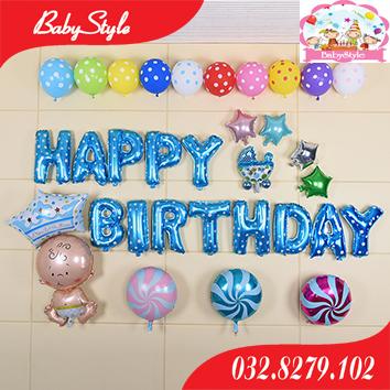 Set bóng trang trí sinh nhật hình Baby