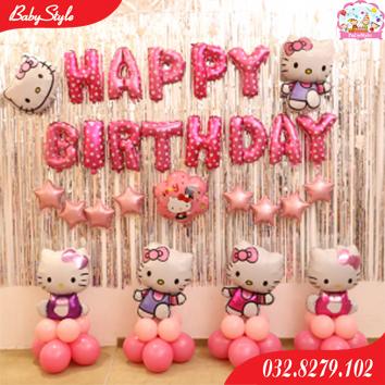 Bộ bóng sinh nhật Hello Kitty