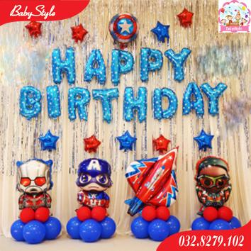 Bộ bóng sinh nhật siêu anh hùng