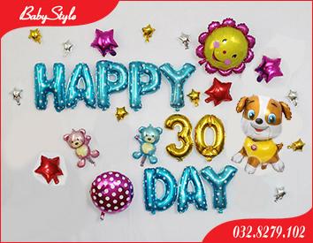 Bộ bóng trang trí sinh nhật chó vàng