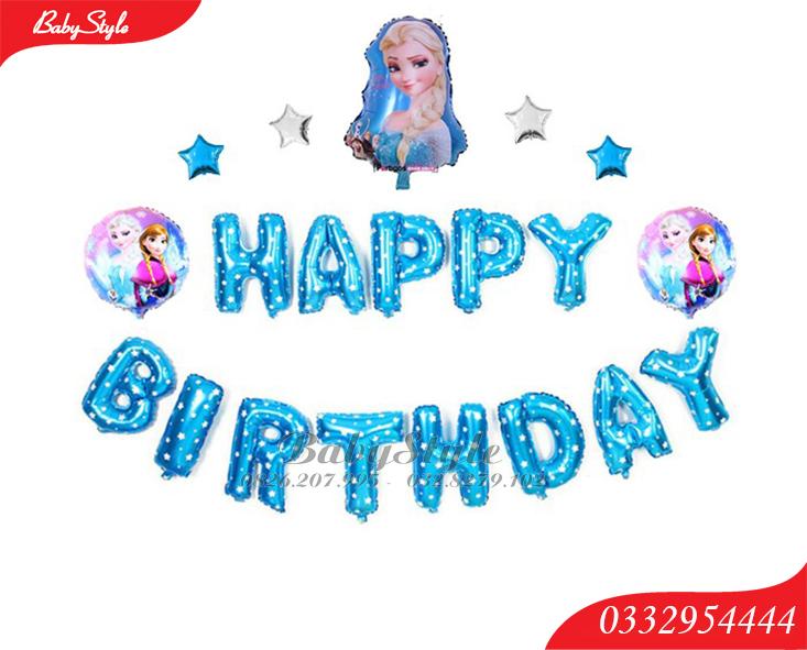 Set bóng sinh nhật chủ đề công chúa Elsa