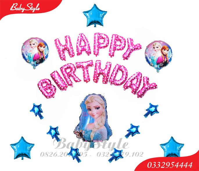 Set bóng sinh nhật công chúa Elsa