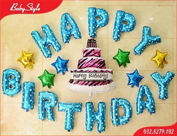 Sét bóng sinh nhật hình bánh gato
