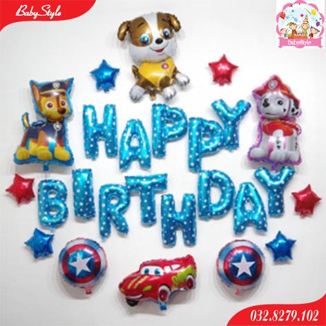 Set bóng trang trí sinh nhật hình chó con