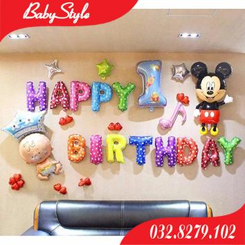 Set bóng trang trí sinh nhật Mickey