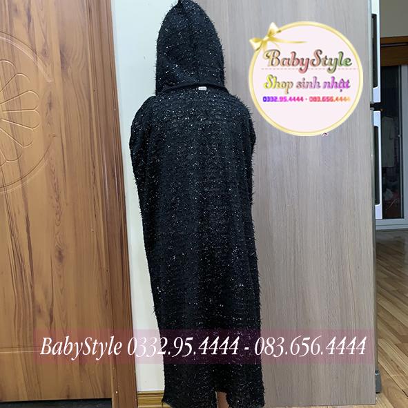 Áo choàng ma cà rồng màu đen