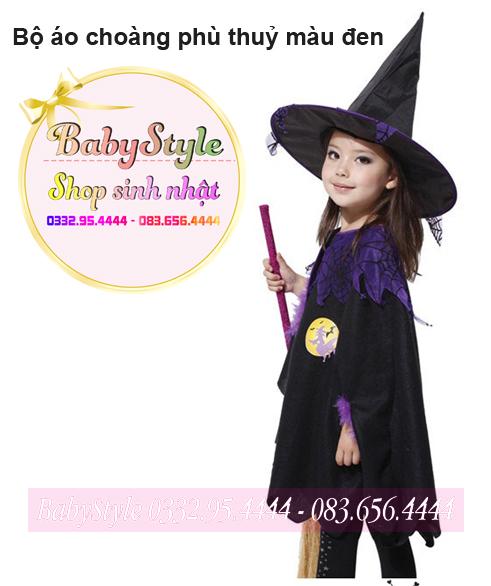 Trang phục Halloween phù thủy cho bé gái