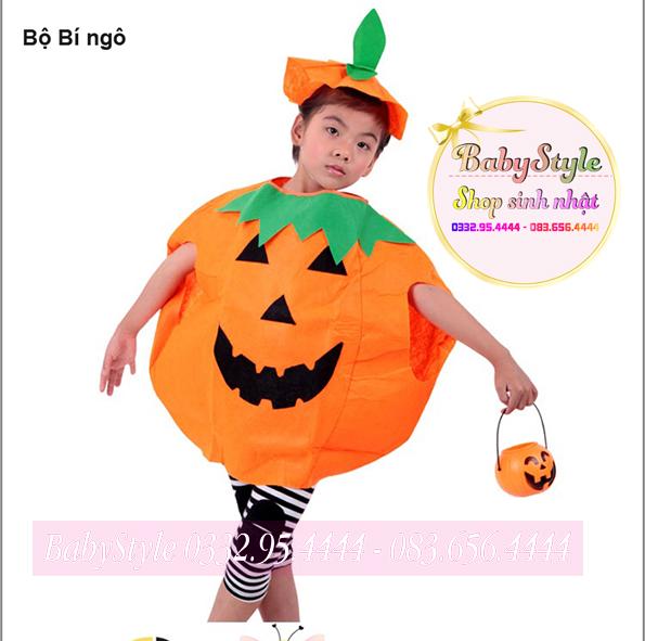 Trang phục Halloween bộ bí ngô