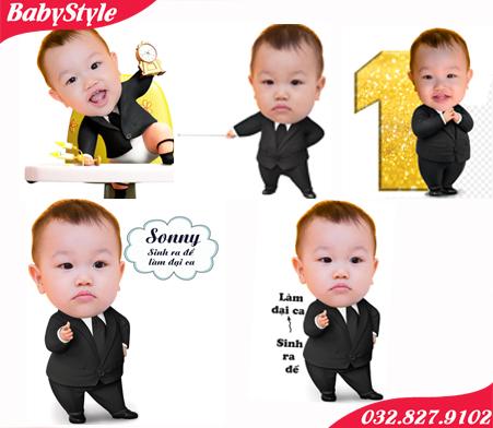 Mẫu chibi chủ đề Boss Baby