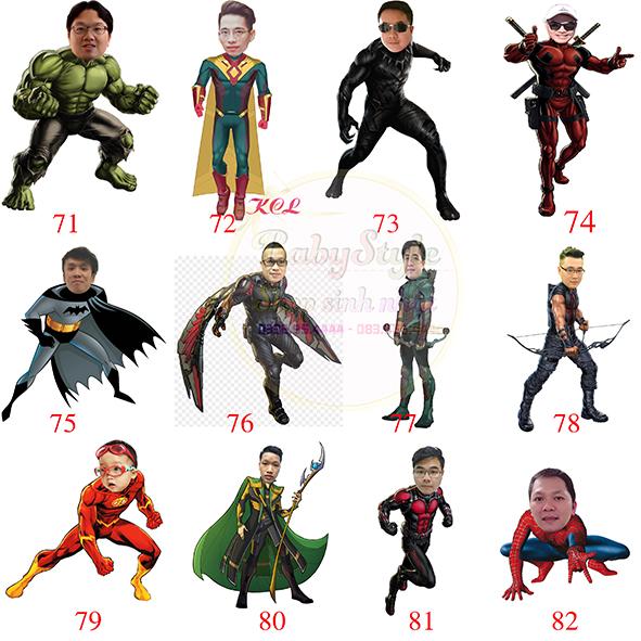 Mẫu chibi siêu anh hùng 1