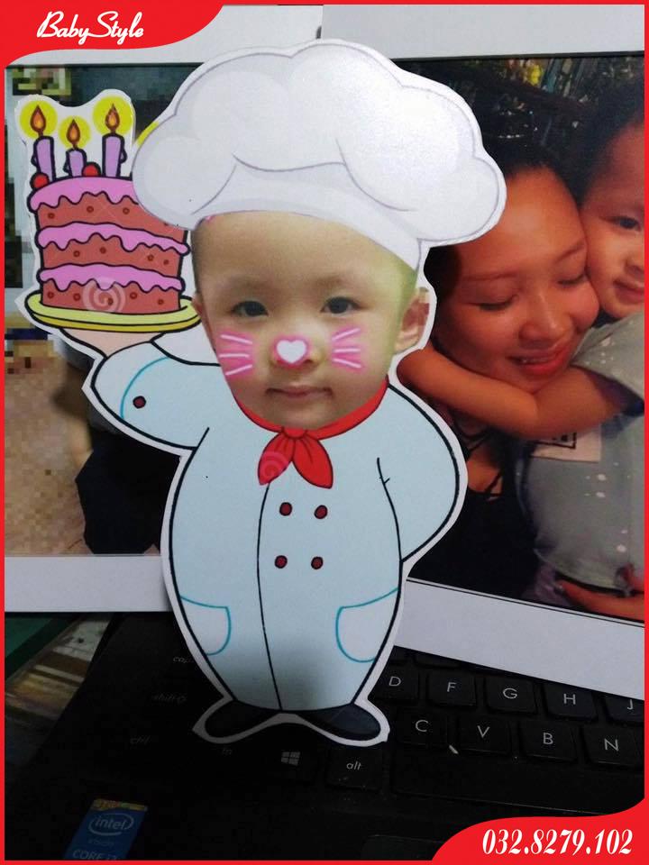Hình chibi đầu bếp cho bé