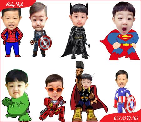 Hình chibi cho bé chủ đề siêu anh hùng