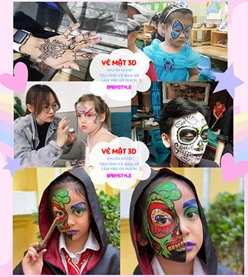 Dịch vụ vẽ mặt cho bé chuyên nghiệp tại Hà Nội