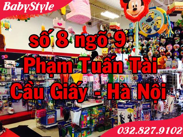 Hình ảnh cửa hàng bán đồ trang trí sinh nhật ở tại Hà Nội BabyStyle
