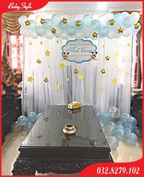 Backdrop khung rèm khung trí sinh nhật