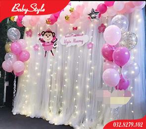 Thuê khung rèm trang trí sinh nhật cho bé