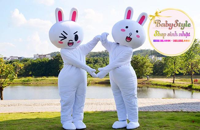 Hình ảnh dịch vụ thuê mascot Cony vô cùng dễ thương ở tại Hà Nội