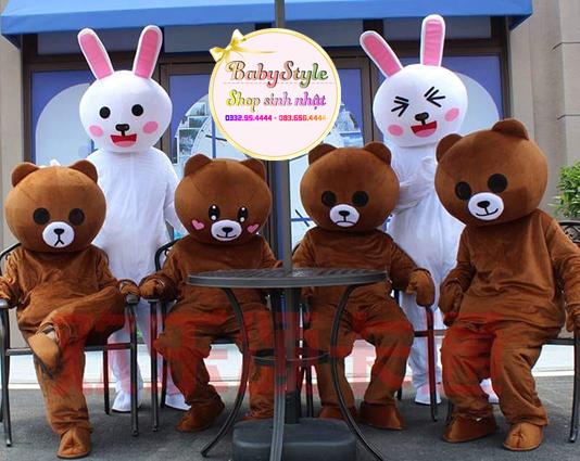 Hình ảnh dịch vụ thuê mascot gấu Brown tại Hà Nội