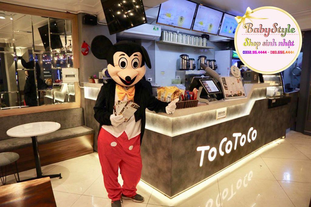 Chuột mickey khai trương cửa hàng Toco toco
