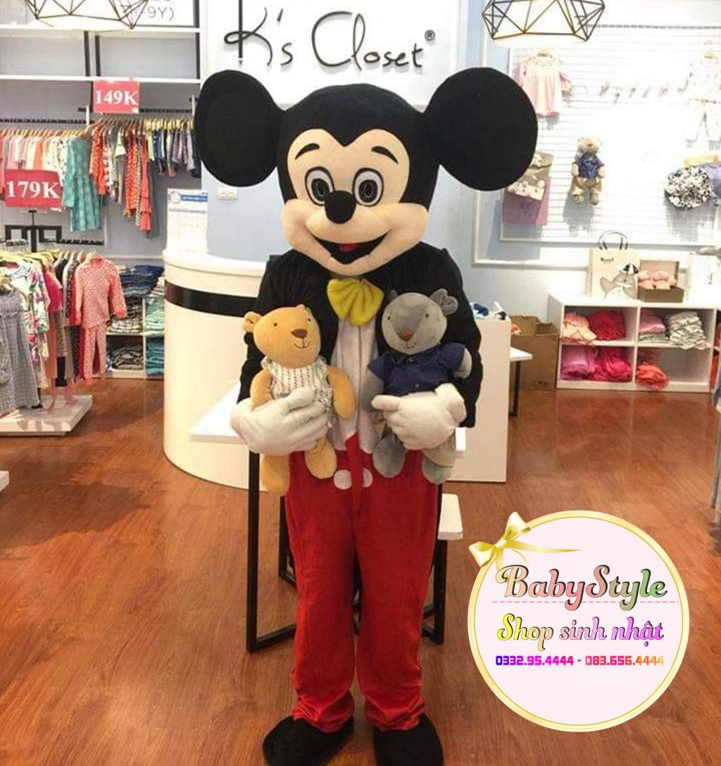 Hình ảnh thuê Mascot Mickey trong tiệc khai trương