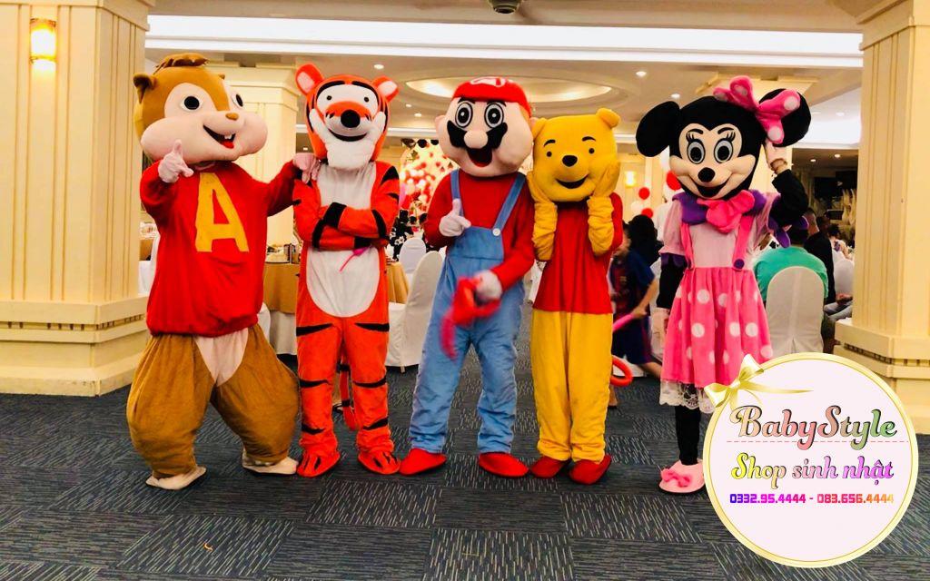 Các mẫu mascot gấu Pooh tại shop Babystyle