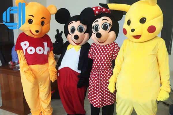 bộ trang phục Mascot các nhân vật hoạt hình