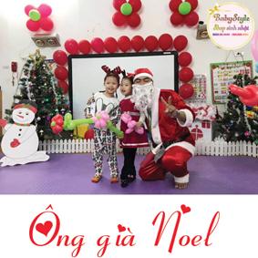 Hình ảnh ông già Noel vô cùng thân thiện
